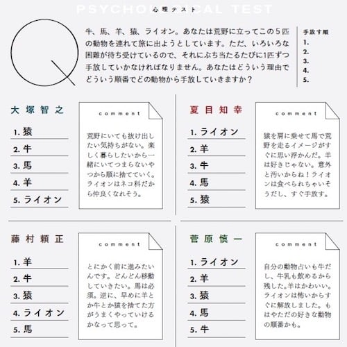 シャムキャッツ_友達_心理テスト