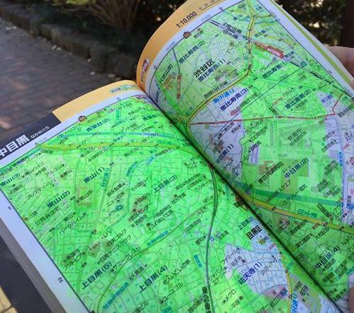 麻野一哉の塗った地図