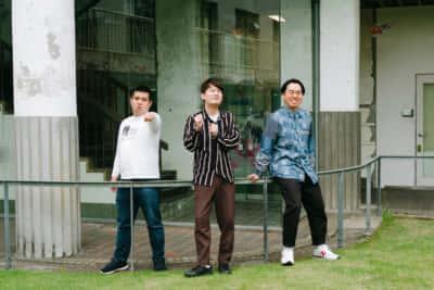 ジェラードン。左から、アタック西本、海野裕二、かみちぃ