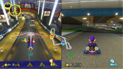 マリオカートゲーム画面